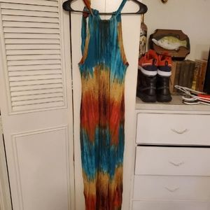 Tommy Bahama Multicolor Rayon Maxi Dress M
